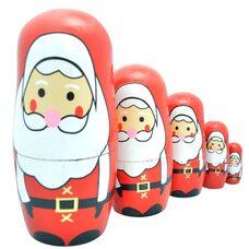 Мини-матрешка 5 в 1 «Дед Мороз»