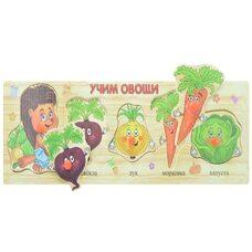 Развивающая игра-вкладыш «Учим овощи»