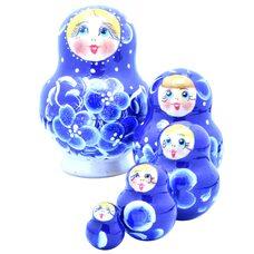 Сувенирная матрешка «Синяя», (мини)