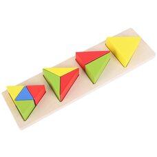 Вкладыши-дроби «Треугольник»