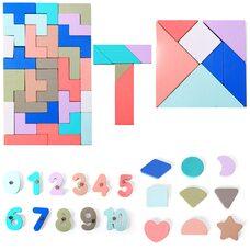 Мега головоломка с магнитными цифрами, фигурами