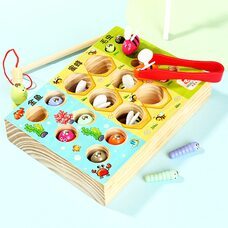 Игра-рыбалка «Гусенички-рыбки-пчелки»