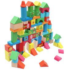 Разноцветный конструктор-сортер с животными, 80 дет.