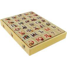 Русский алфавит, 35 кубиков (на подставке)