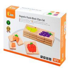 Пазлы магнитные «Фрукты-овощи» от ТМ «Viga Toys»