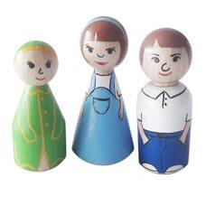 Деревянный набор куколок «Семья»