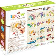 Объемный пазл в рамке «Бабочка», 9 дет.
