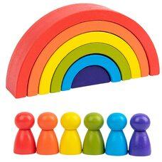 Пирамидка «Rainbow», 6 дет. (яркая)