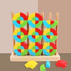 Пирамидка «Цветные блоки»
