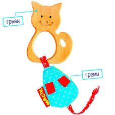 Прорезыватель с пищалкой «Котёнок»