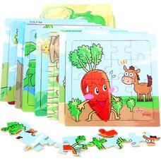 Серия пазлов «Фрукты-овощи», 16 дет.