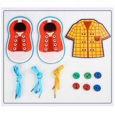 Шнуровка «Рубашка с пуговками, башмачки»