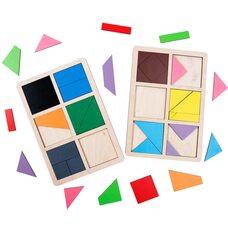 Игра «Сложи квадрат» Никитина - 1 уровень от ТМ «Komarovtoys»