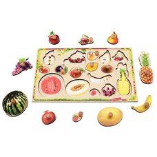 Вкладыши с ручкой «Фрукты-ягоды»