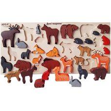 Большой набор «Лесные животные» цветной