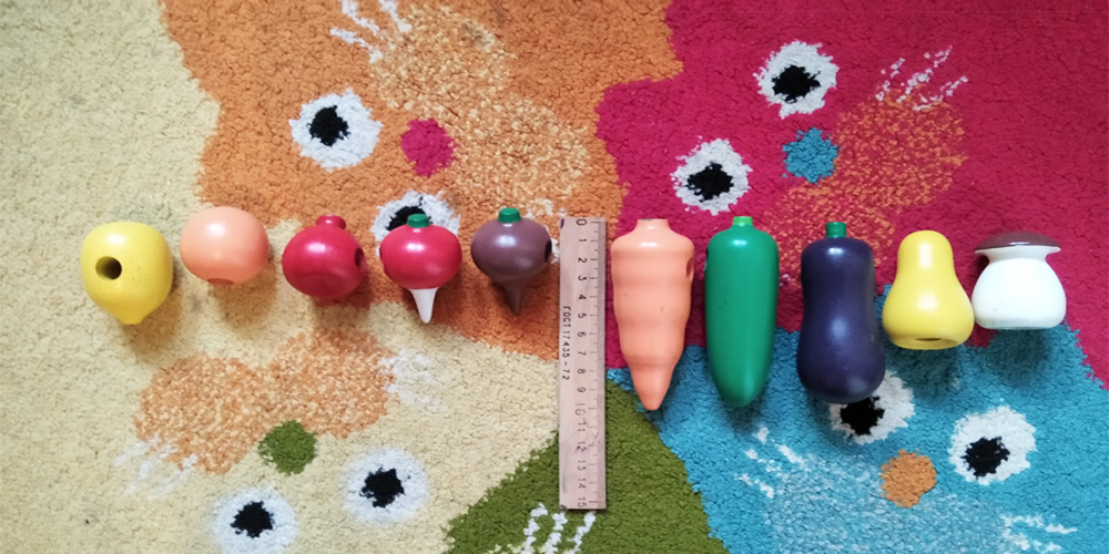 Фото 2. Шнуровка овощи-фрукты